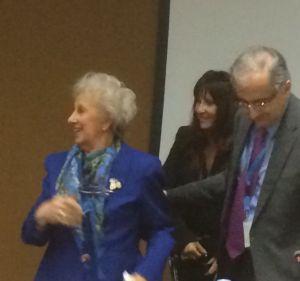 Estela de Carlotto with the Argentine Ambassador to Geneva at HRC September side event