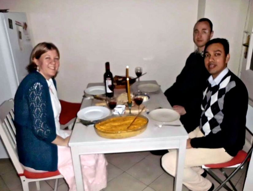 Not home alone: Christmas eve dinner in Budapest with Agi, Emmanuel andToby